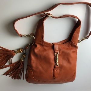 Gucci Jackie Camel Medium Hobo Shoulder Bag